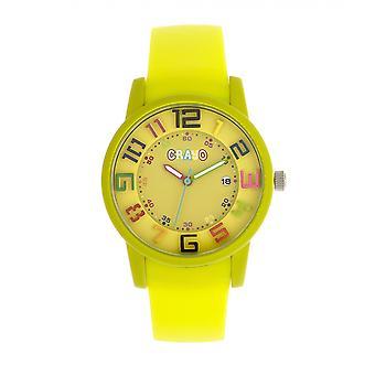Crayo Festival Unisex Watch w/ Date - Yellow