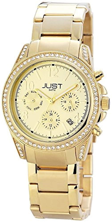 Montres juste 48-S11004-GD-montre-bracelet, acier inoxydable, couleur  or