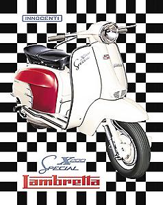 Lambretta X200 scooter Metal Sign   (fd)