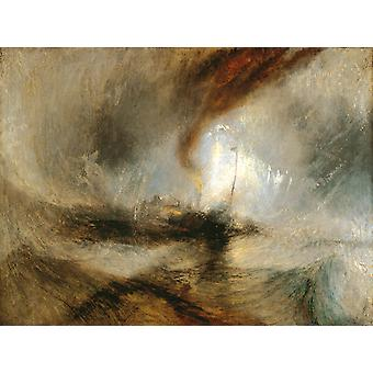 Snow Storm-Steam Boat off a Harbour-s,J.M.W. Turner,50x37cm
