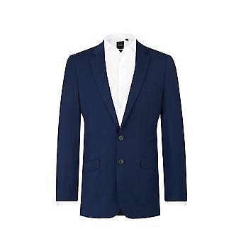Dobell Herre mørke blå Suit jakke Slim Fit Notch revers