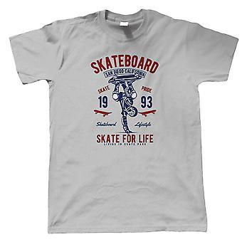 Skate For Life Mens T-Shirt   Timeless Retro Vintage Iconic Seminal Memorable    Roller Skate Blade Rink Ice Choreographer Figure    Skating Gift Him Dad