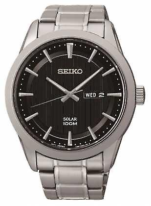 Seiko Mens Solar Powered SNE363P1 Watch