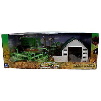 Country Life Dairy Farm with Accessories NewRay 1:32 Scale