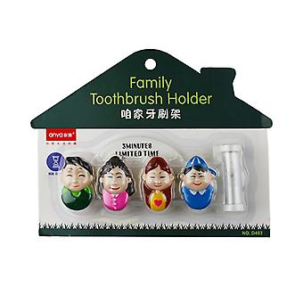 Toothbrush holder with sandglass Family