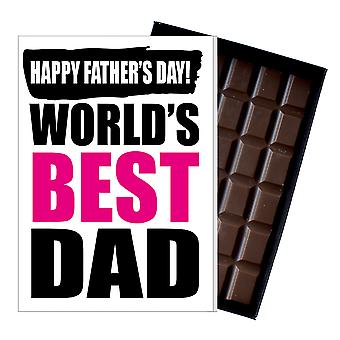 Funny Father's Day Gift Silly Chocolate Present Rude Card Best Dad DADIYF119