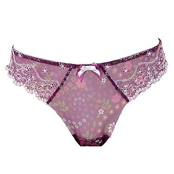 Parfait by Affinitas Evelyn Thong Panties Purple Womens