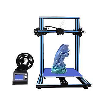 Ezt m18 3d printer diy kit blue/orange/yellow color 300*300*400mm printing size