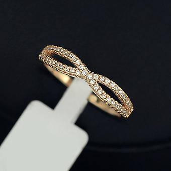 18K Gold Plated Cubic Zirconia Infinity Ring
