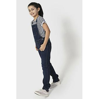 Libby girls denim dungarees indigo