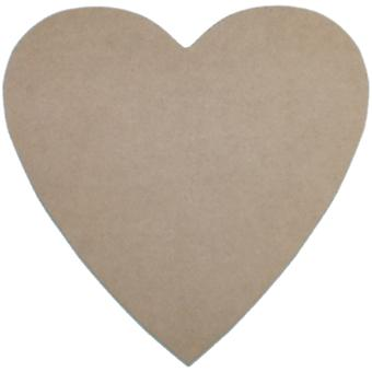 Unfinished Mdf Plaque 1 Pkg Heart 10