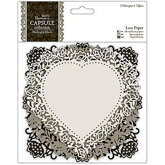 Papermania Midnight Blush Die Cut Lace Paper 5.5