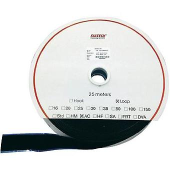 Hook-and-loop tape stick-on Hook pad (L x W) 25000 mm x 25 mm Black Fastech T0202599990225 25 m