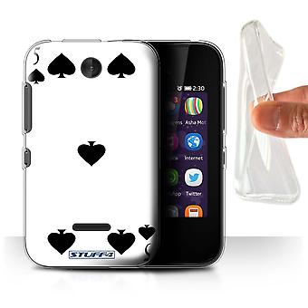STUFF4 Gel/TPU Case/Cover for Nokia Asha 230/5 of Spades/Playing Cards