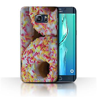 STUFF4 Case/Cover for Samsung Galaxy S6 Edge+/White Glazed/Tasty Donuts