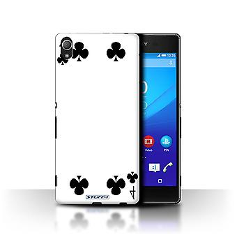 STUFF4 Case/Cover for Sony Xperia Z3+/Plus/4 of Clubs/Playing Cards