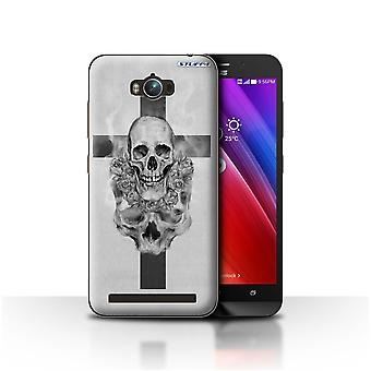 STUFF4 Case/Cover for Asus Zenfone Max ZC550KL/Cross/Crucifix/Skull Art Sketch