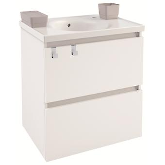 Bath+ Cabinet 2 Drawers With White Porcelain Sink Brightness 60CM