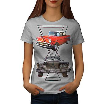 Classic Automotive Car Women Grey T-shirt | Wellcoda