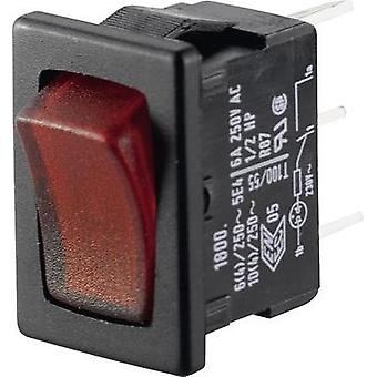 Toggle switch 250 Vac 6 A 1 x Off/On Marquardt 01800.1102-02 IP40 latch 1 pc(s)