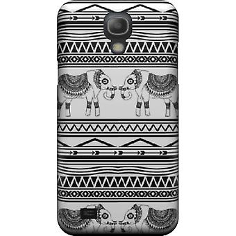 Capa mate Elephant Tribal Pattern para Galaxy S4 mini