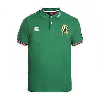 2016-2017 British Irish Lions Rugby Vapodri Cotton Polo Shirt (Green)