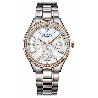 Rotary Womans Hampstead Stainless Steel Two Tone Strap LB05057/41 Watch