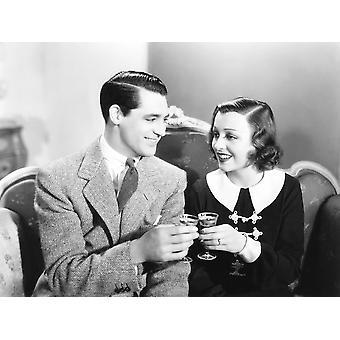 Panie powinny słuchać od lewej Cary Grant Frances Drake 1934 Photo Print