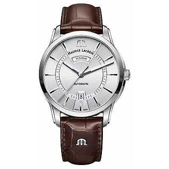 Maurice Lacroix Mens Pontos Automatic Silver Dial PT6358-SS001-130-1 Watch