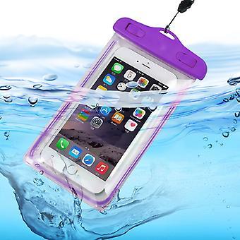 ONX3 (lila) Samsung Galaxy S8 Plus Universal Transparent Mobile Zelle Smart Phone, Pass, Geld Unterwasserschutz wasserdichte Tasche Touch reagiert