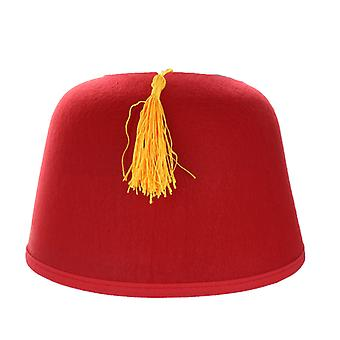 Morroccan Fez Red/Gold Hat Fancy Dress Accessory