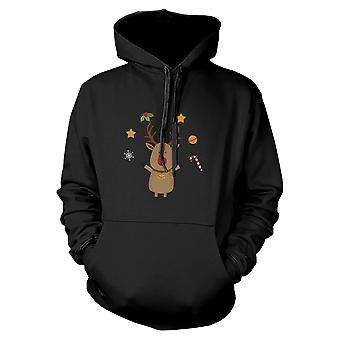 Rudolph Hoodie Christmas Sweatshirt schattig grafische Print trui