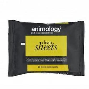 Animology Clean Sheets 20pk (pakke med 6)