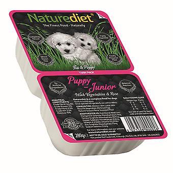 Naturediet hvalp / Junior kylling & lam med grøntsager & ris Twin Pack 280g (pakke med 18)