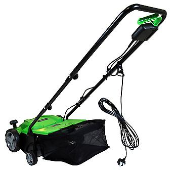 Charles Bentley 2 in 1 Electric 1500W Scarifier & Aerator 32cm Lawnraker, 4 Working Depths, 12 Month Warranty