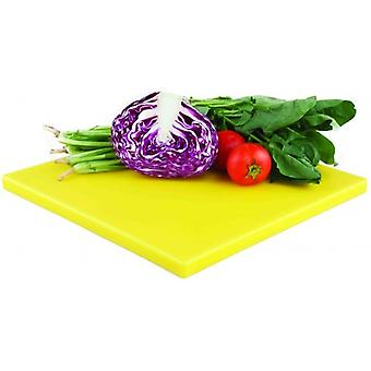 POLYETHYLENE HEAVY DUTY SQUARE CUTTING CHOPPING BOARD YELLOW 35x35CM