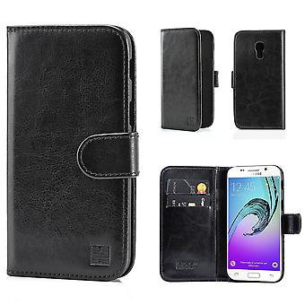 Book PU Leather Case Cover for Samsung Galaxy S5 G900 + Stylus - Black