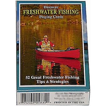Discover Freshwater Fishing set of 52 playing cards + jokers    (gib)