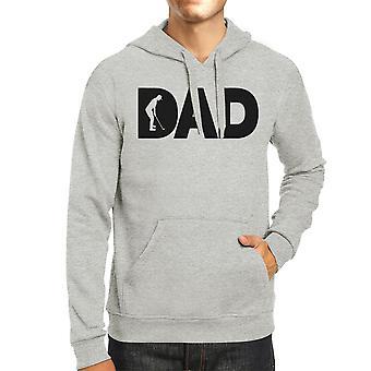 Dad Golf Unisex Grey Hoodie Funny Design Hoodie For Golf Lovers