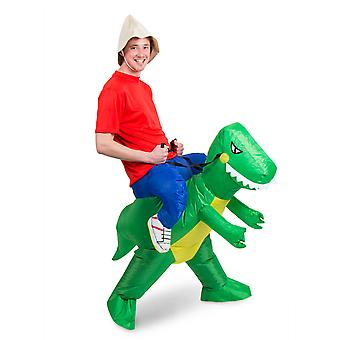 Dinosaur piggy costume Walker rider inflatable with motor piggyback costume