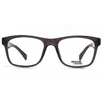 American Freshman Austin Oversized Rectangle Glasses In Crystal Grey