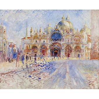 Pierre Auguste Renoir - The Piazza San Marco Venice Poster Print Giclee