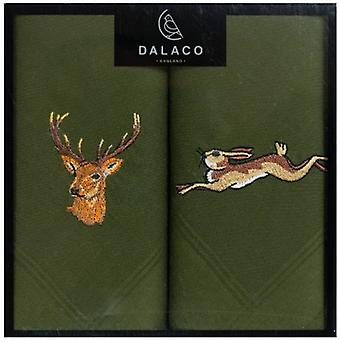 Dalaco Stag and Hare Handkerchiefs - Green