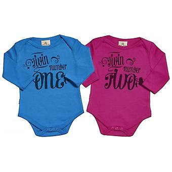 Spoilt Rotten Twin Number One & Two & Babygrow Twins Set