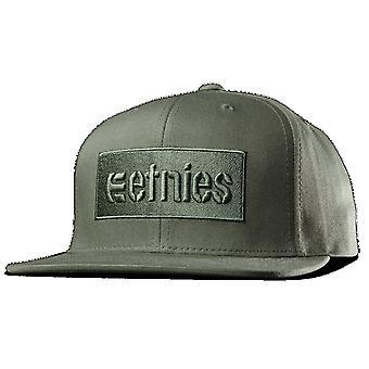 Etnies Corp boks Snapback Cap - oliven