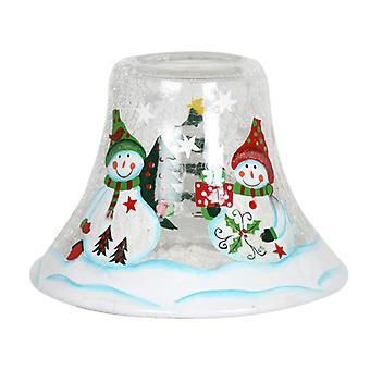 Schneemann Kerze Glas Duftlampe