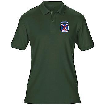 US Army 10th Mountain Division ricamato Logo - camicia di Polo