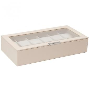 Wolf Designs Cream 12 Piece Watch Tray With Lid