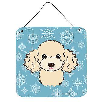 Sneeuwvlok Buff poedel muur of deur hangen Prints