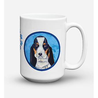 Basset Hound lave-vaisselle sûre pour micro-ondes céramique café tasse 15 oz